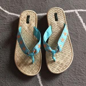 J.CREW grosgrain flip flop size 9-10